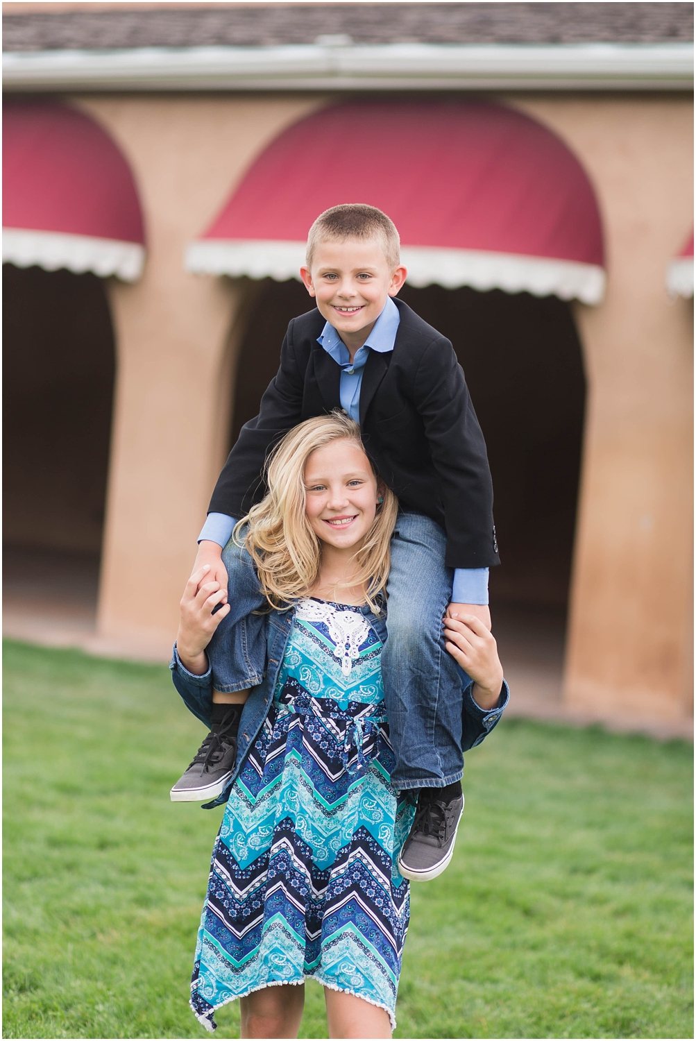 Family Photography in Albuquerque NM at Hartnett Park | Family of four with dog photo session
