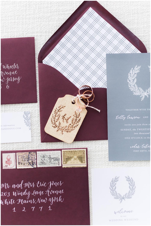 Romantic wedding details | Invitation Suite | Cedar Lakes Estate | Port Jervis, NY