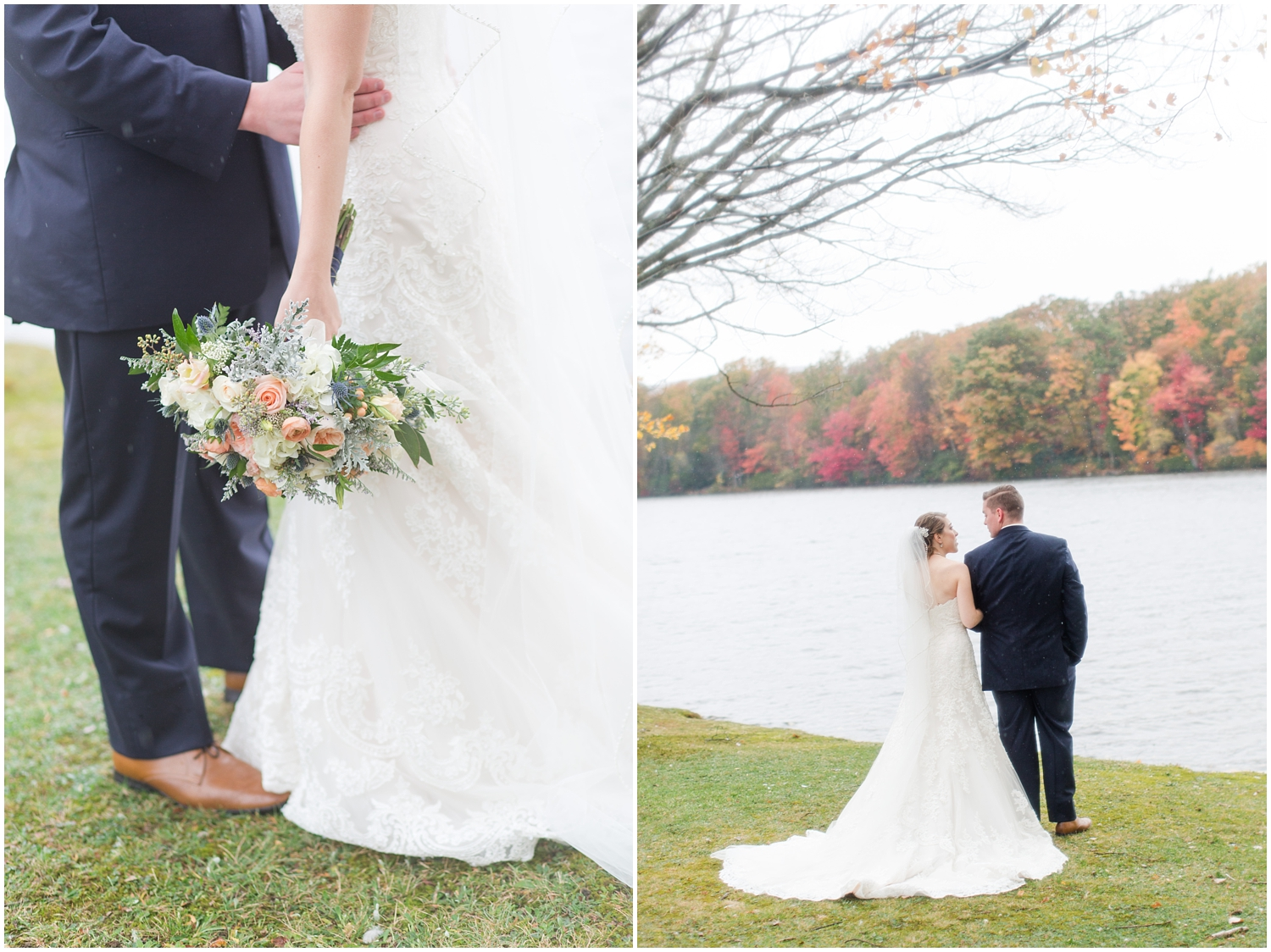 The Lodge at Mountain Springs Lake Resort bride and groom portraits