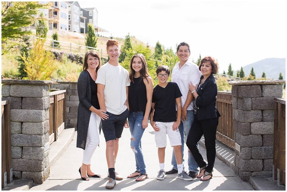 family of five photo with grandma