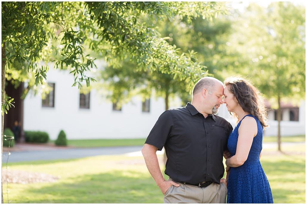 backlight portrait of couple