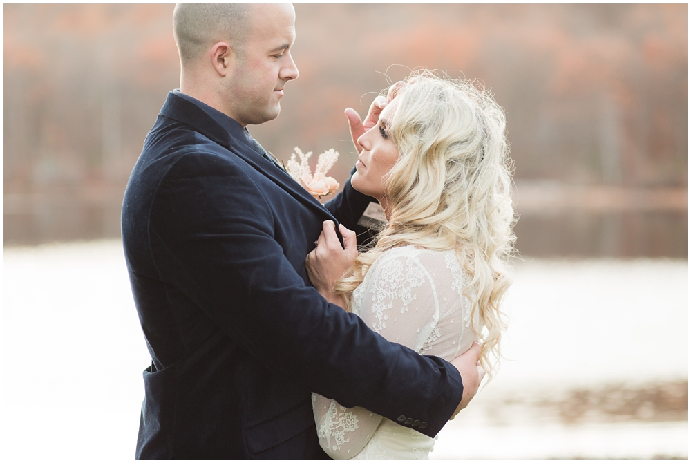 portrait of a bride and groom at Cedar Lakes Estate in Port Jervis, NY
