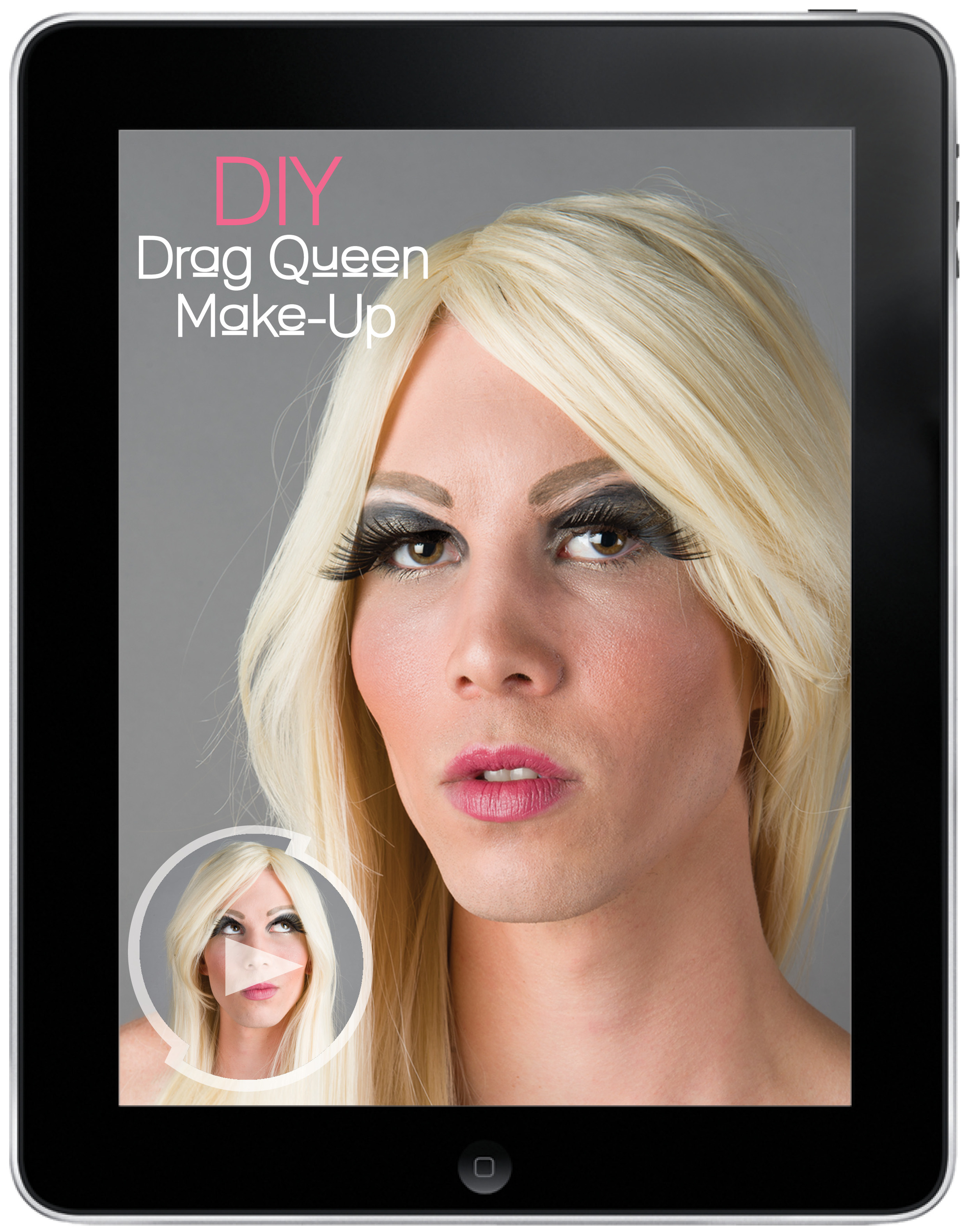 """The magazine also offers interactive elements such as learning """"Do It Yourself"""" drag queen make-up tips."""