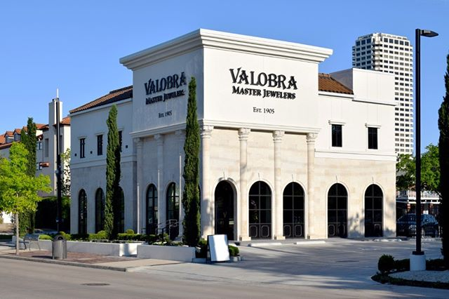 Recently Completed -- Valobra Master Jewelers jewelry store. IDA designed the 2,900 SF shell, including a 500 SF mezzanine as well as the interior space.  #completed #jewelrystore #retail #building #retaildesign #interiordesign #houstonarchitecture #identityarchitects