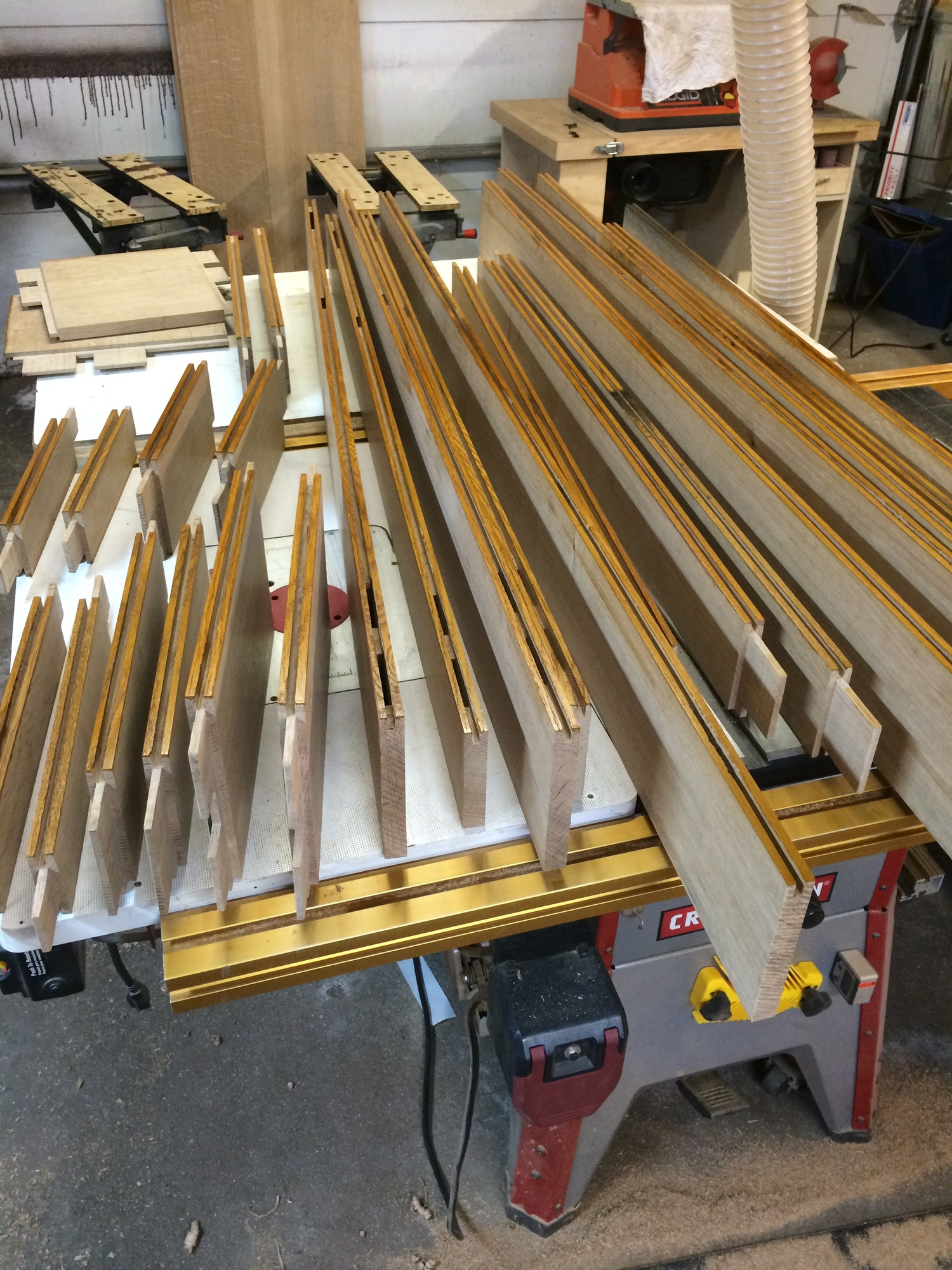 inner edges of the rails & stiles being finished