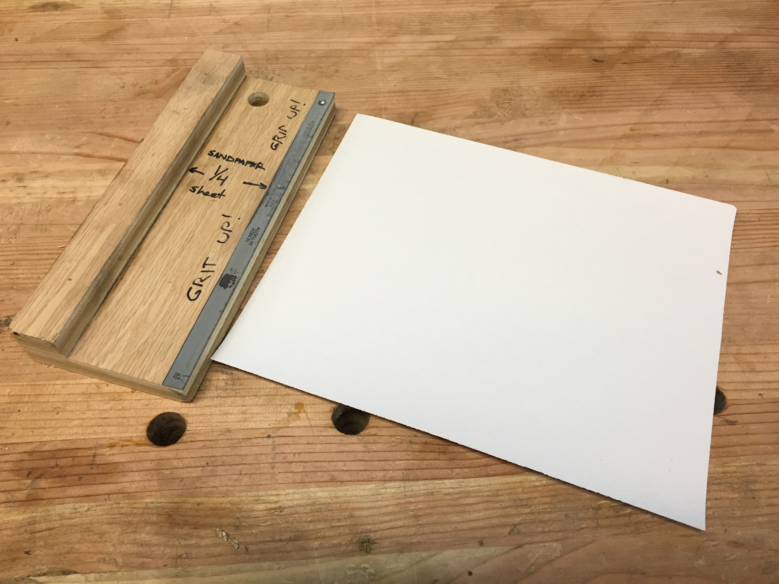 paper sizing/cutting jig