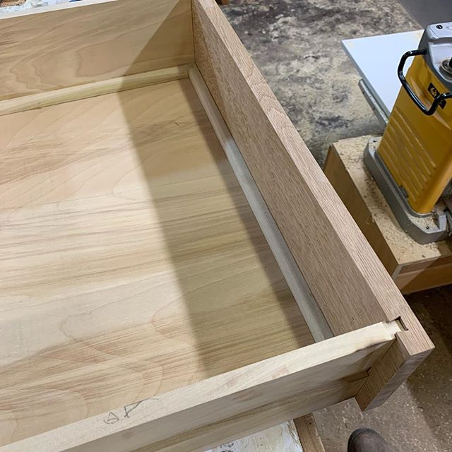 Drawer slips. Getting back to finishing up this dresser.