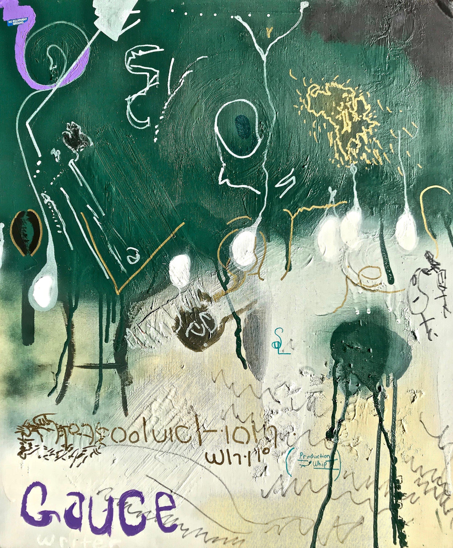 """Gauce"" (mixed-media on canvas board)"