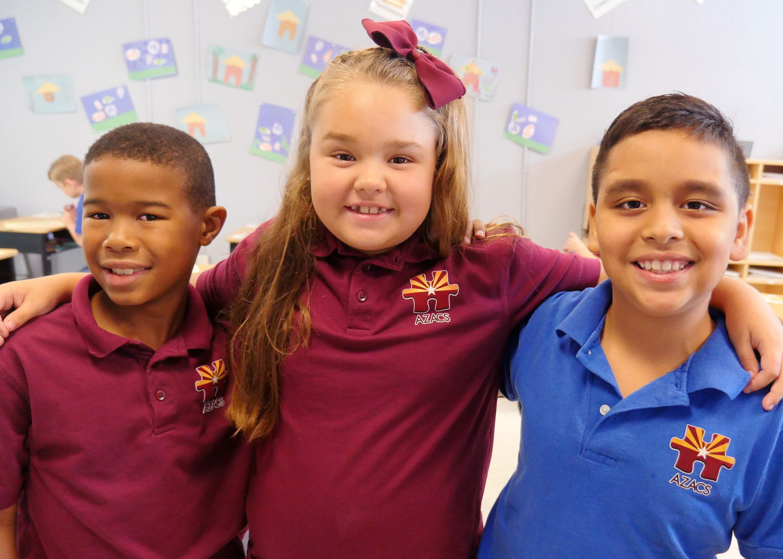 Group of students in classroom (posed) 1 – AZACS Elementary School – Campus Photos Fall 2017 –Christie Lukes Photography.jpg