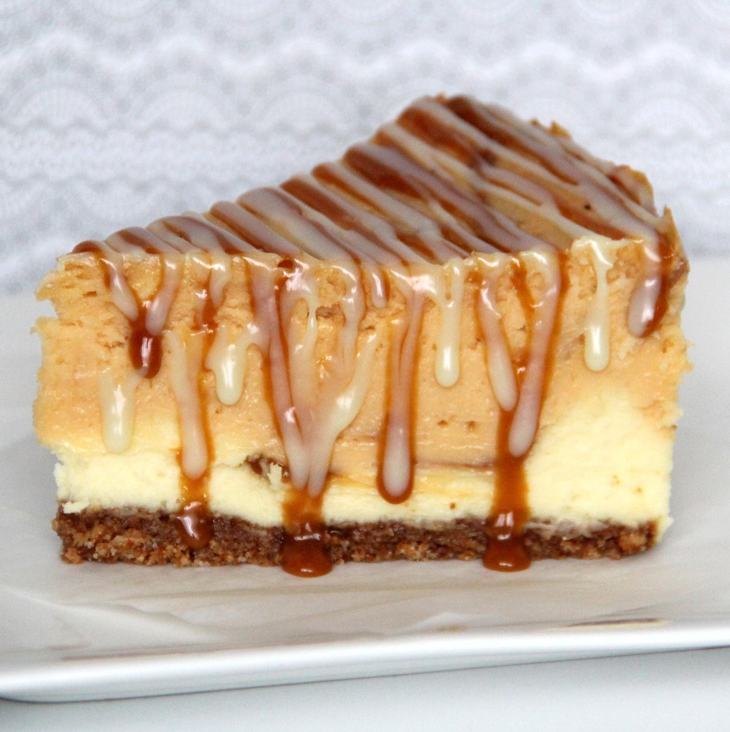 Butterscotch Caramel White Chocolate Cheesecake