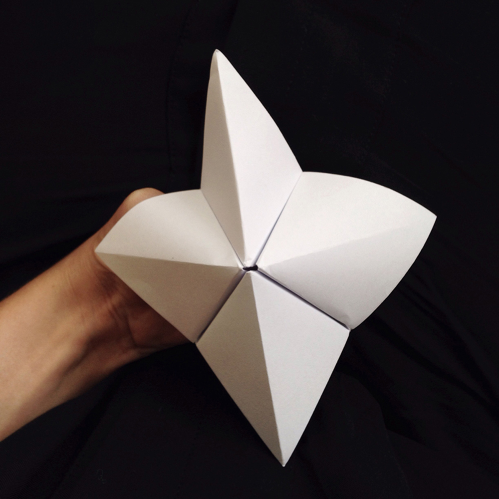 Make a chatterbox with predictions about the future
