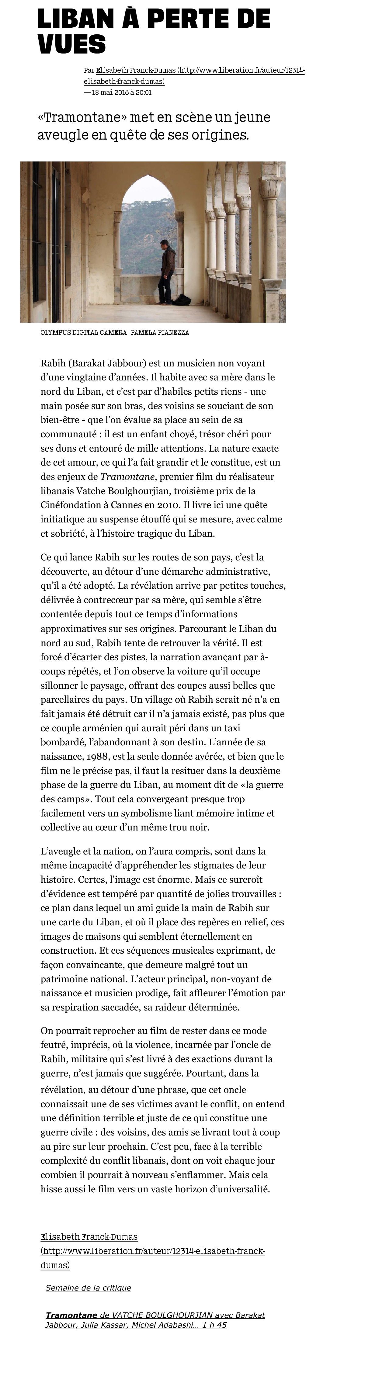 Liberation | Tramontane