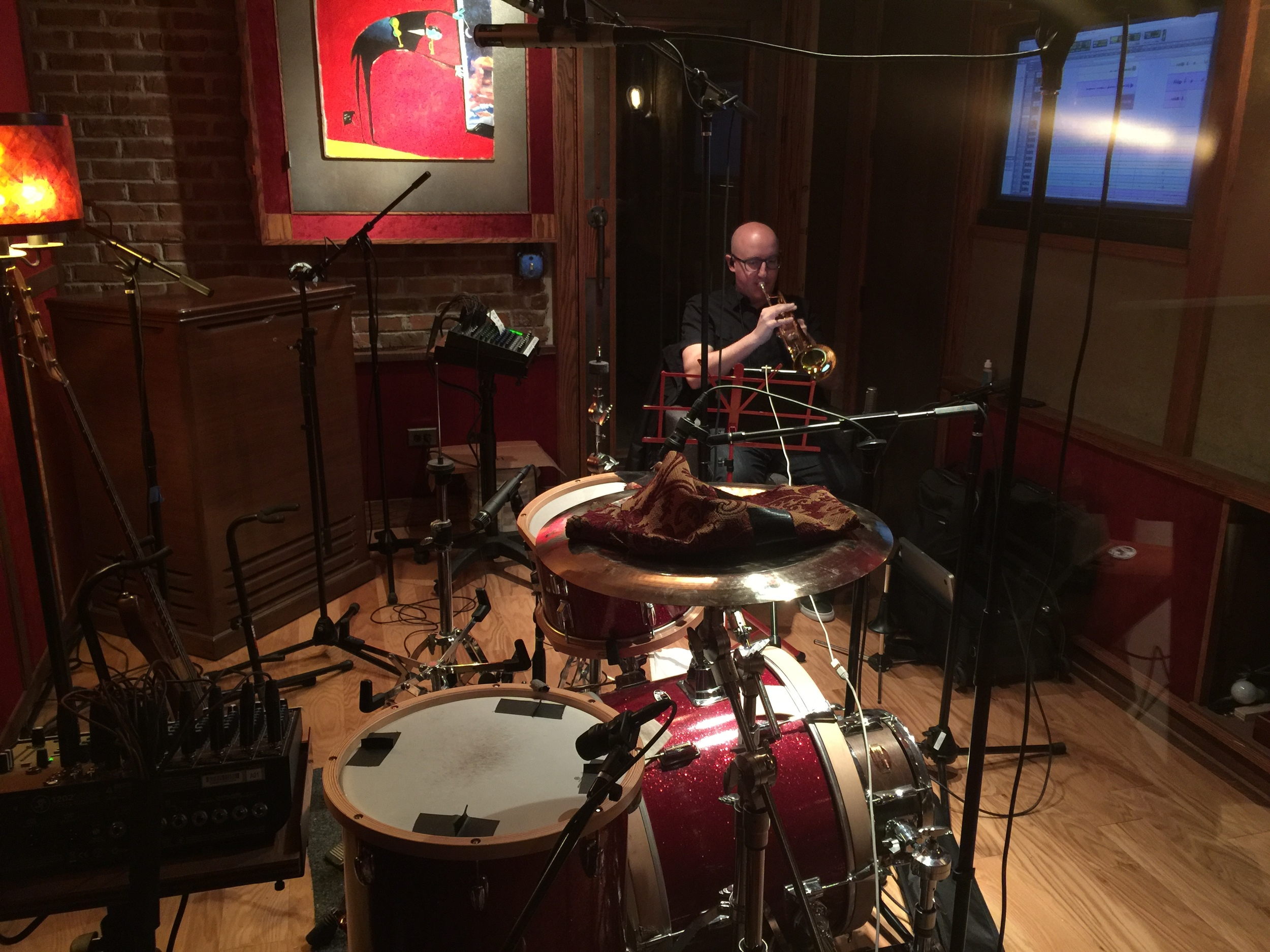 Michael Stever in recording room