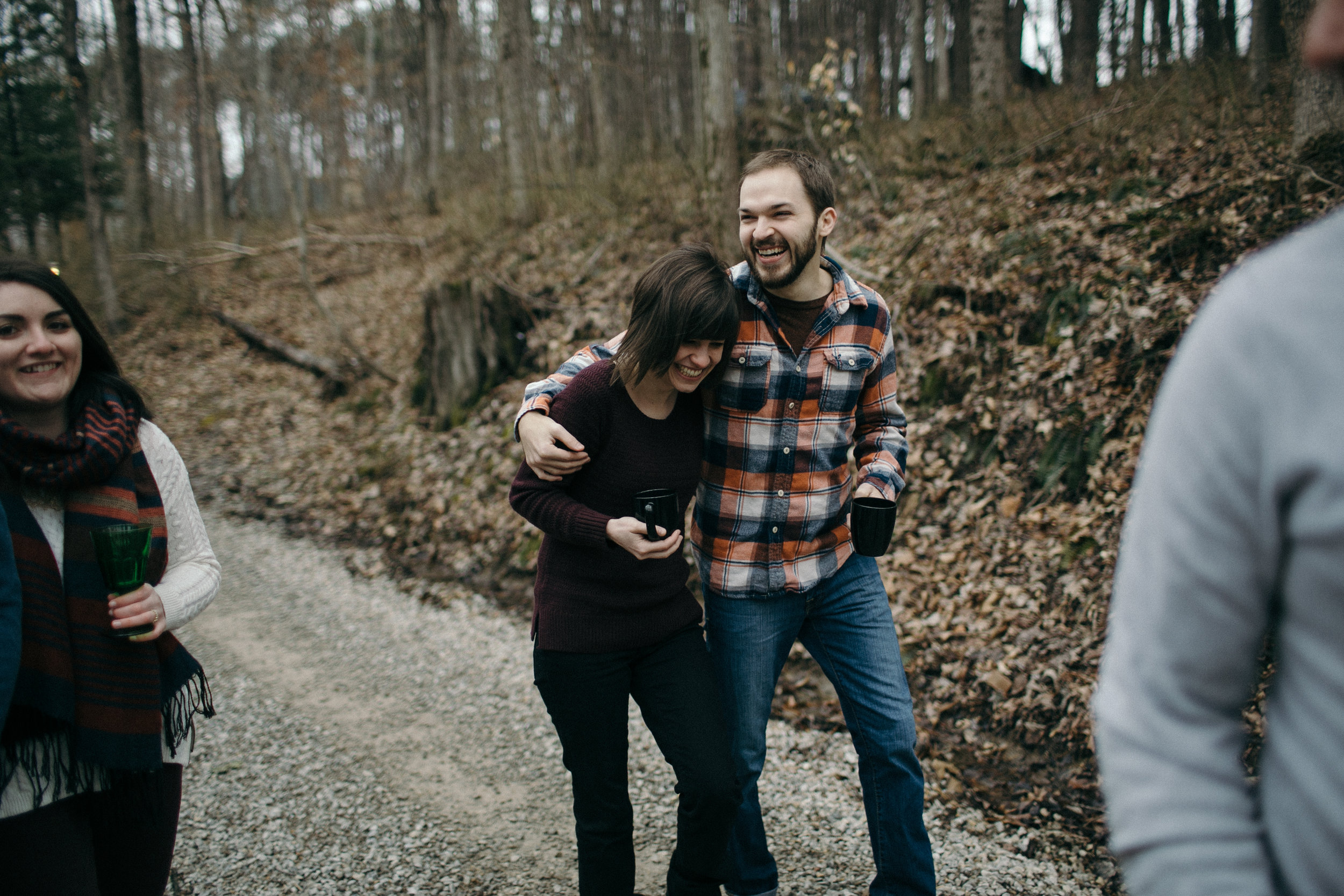 jake and krysti hocking hills engagement photography by sarah rose