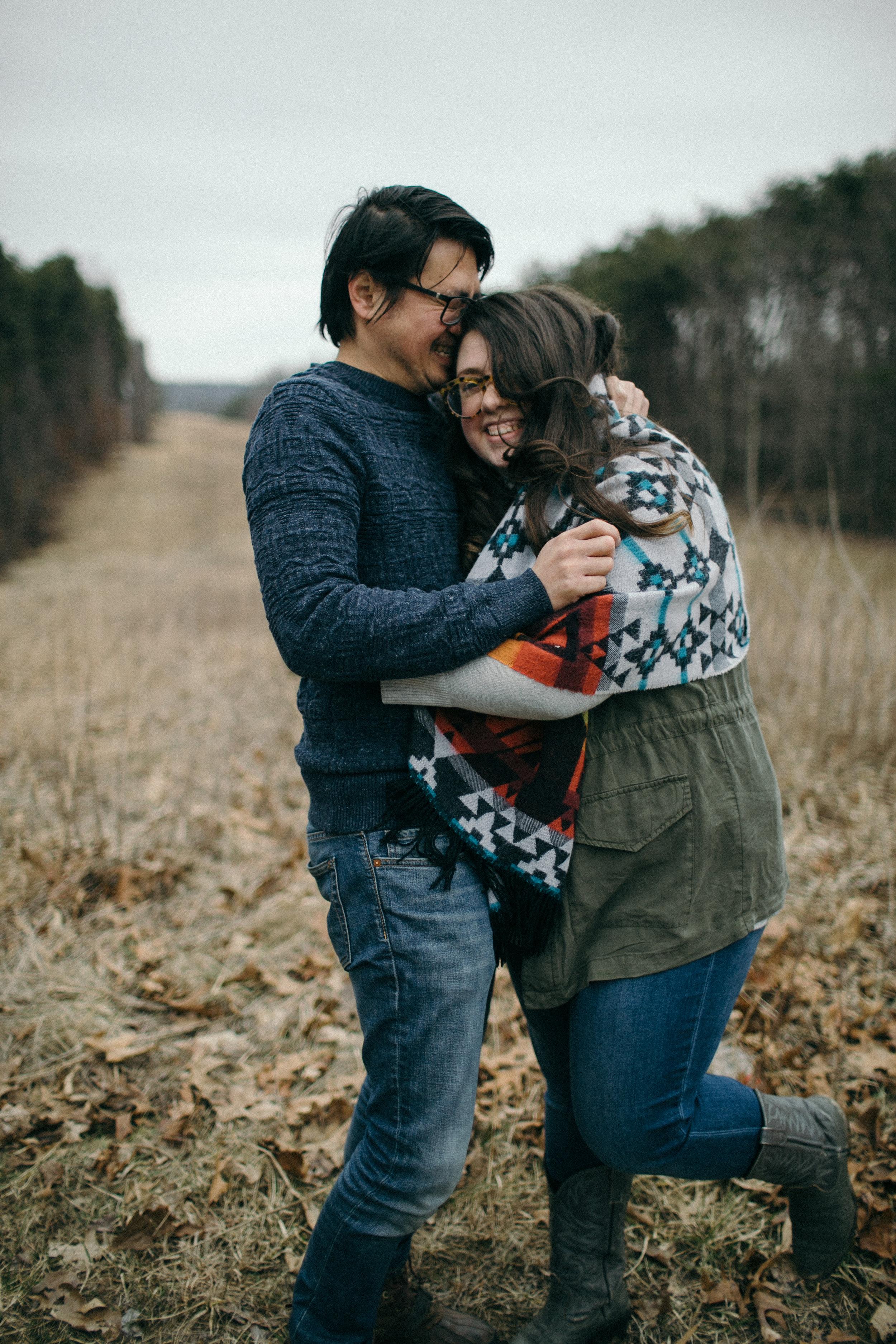 jake and krysti dayton ohio engagement photographer sarah rose hocking hills
