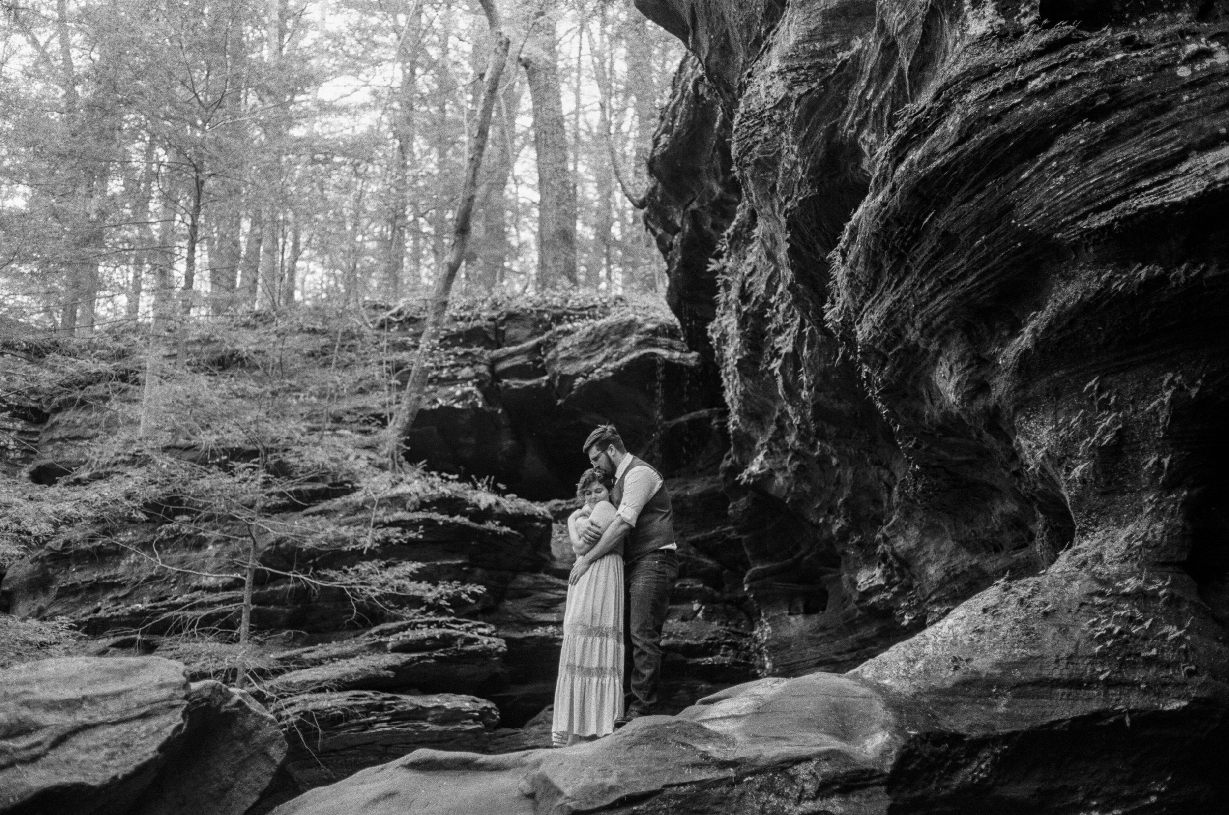 ohio moody film wedding photography hocking hills film photographer sarah rose