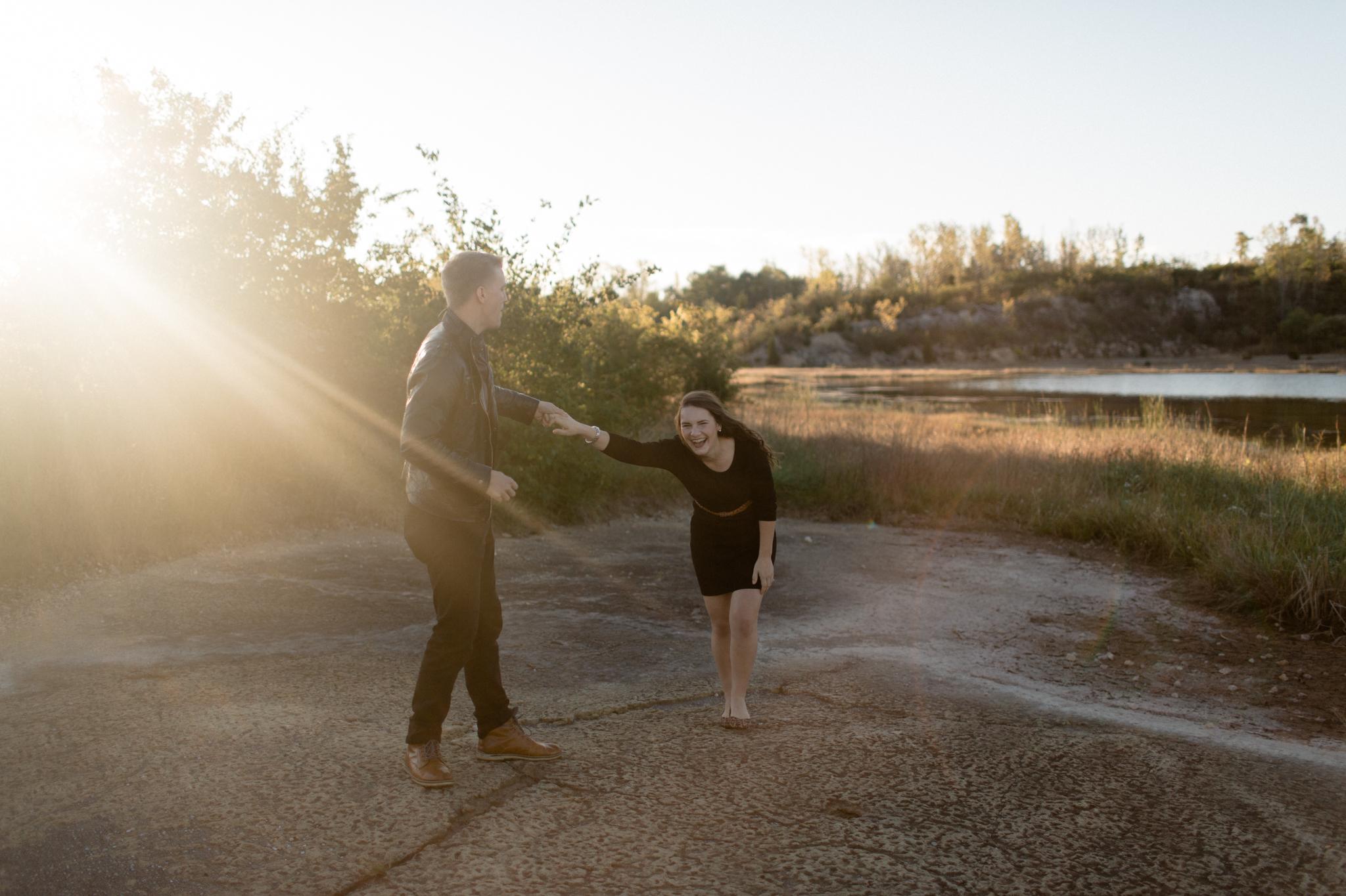 dayton ohio desert inspired engagement photography