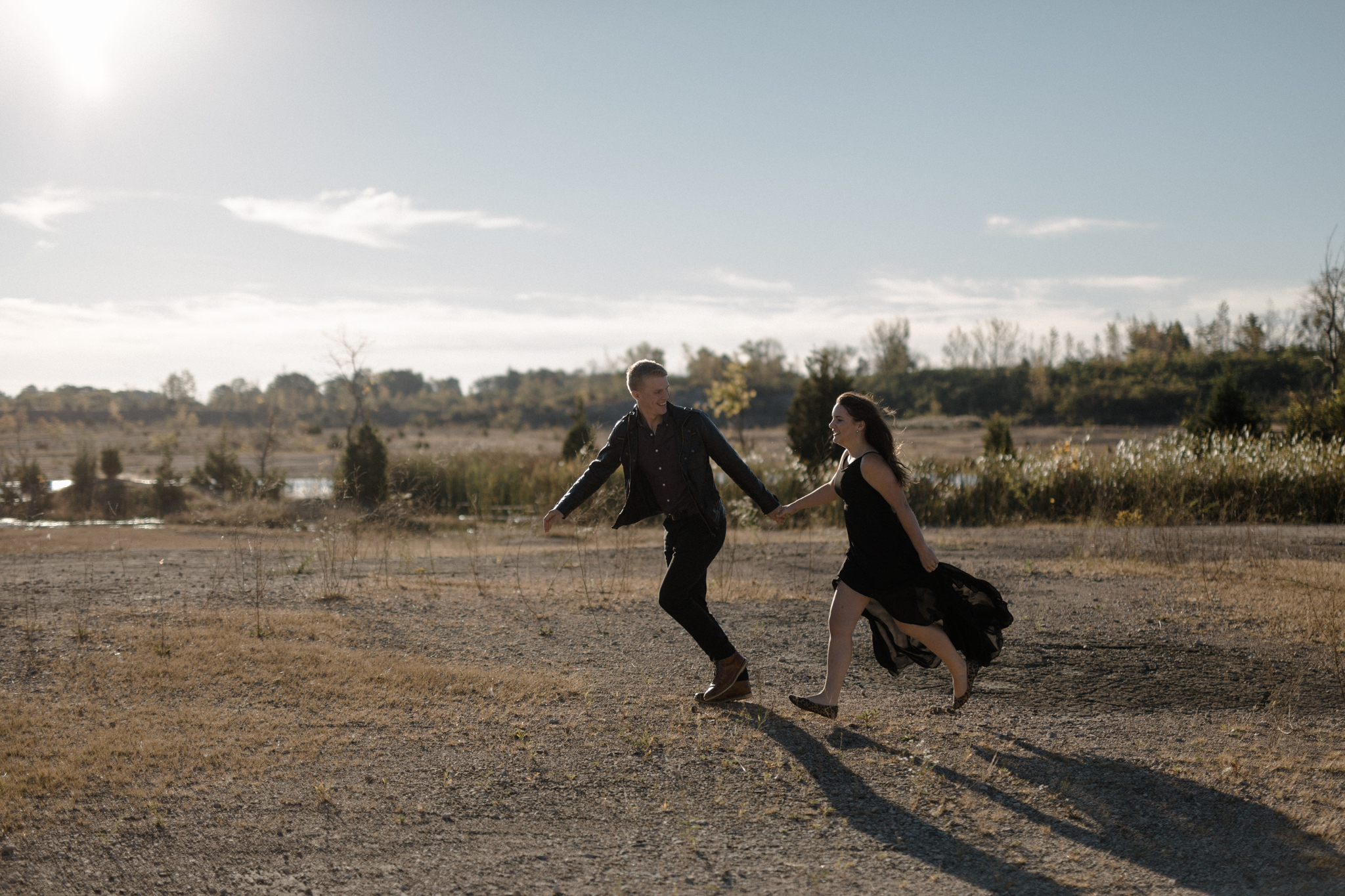 cincinnati ohio desert inspired engagement photography