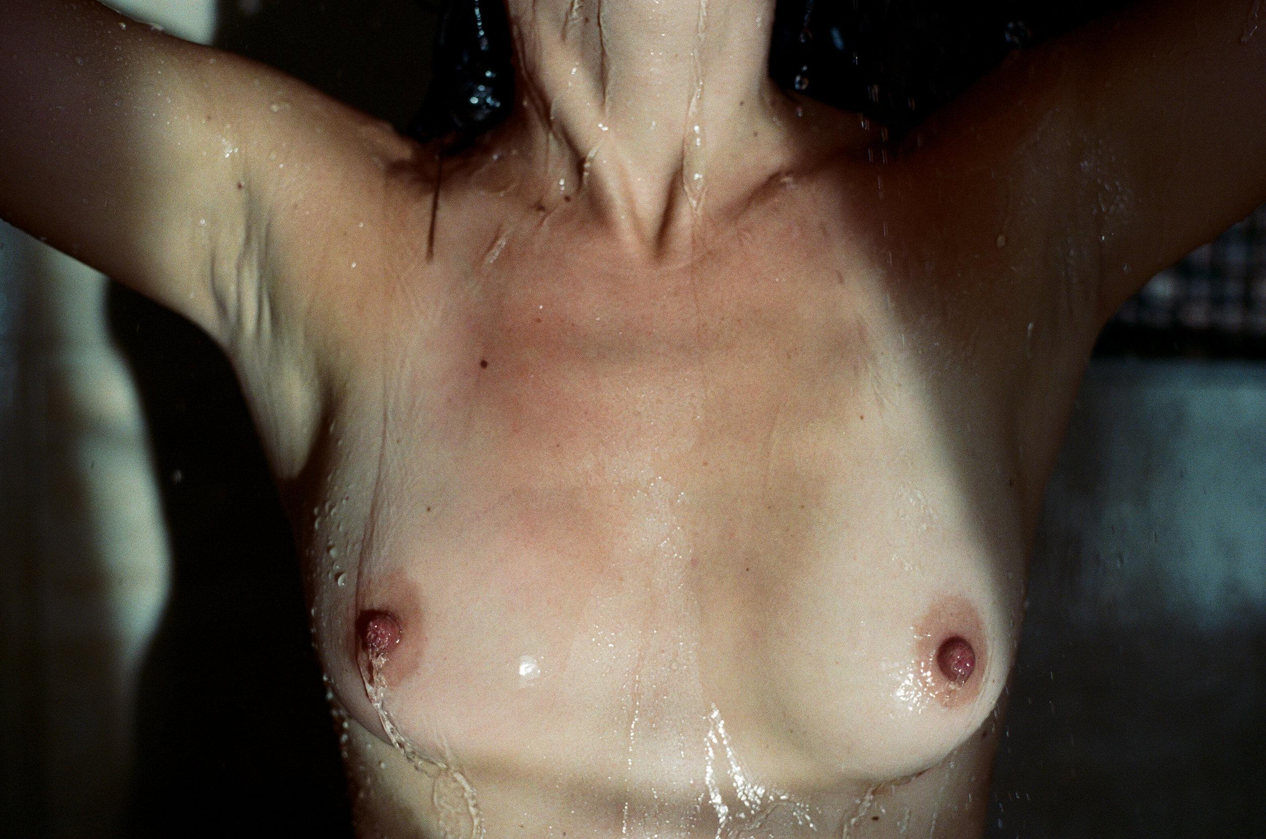 35mm film portrait. artistic nude film photograph. shower boudoir. moody boudoir. canon ae-1. moody portrait. emotional portrait. ohio portrait photographer. sarah rose photography. i am sarah rose.