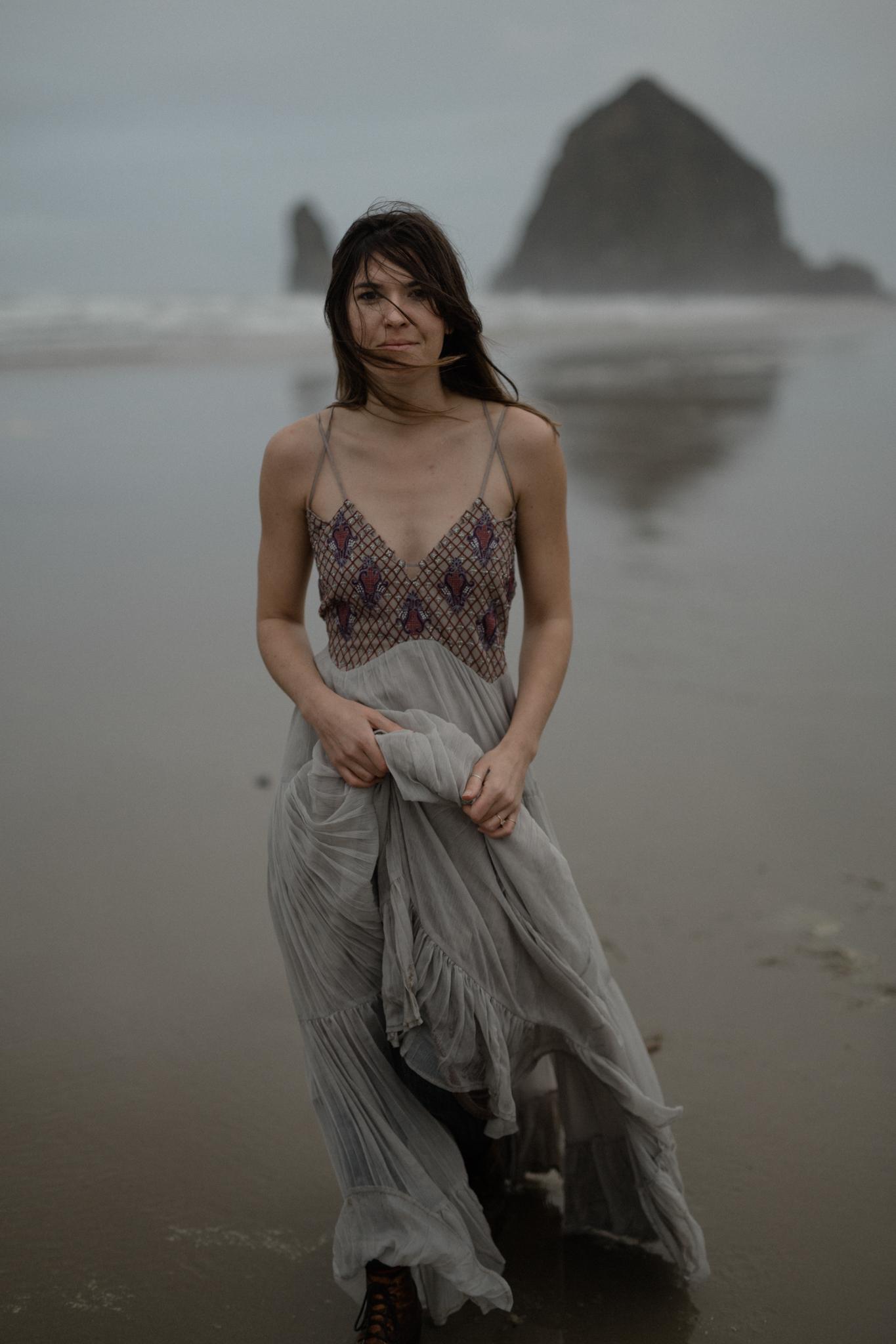 Oregon coast engagement session at cannon beach and ecola state park destination travel photographer sarah rose walk