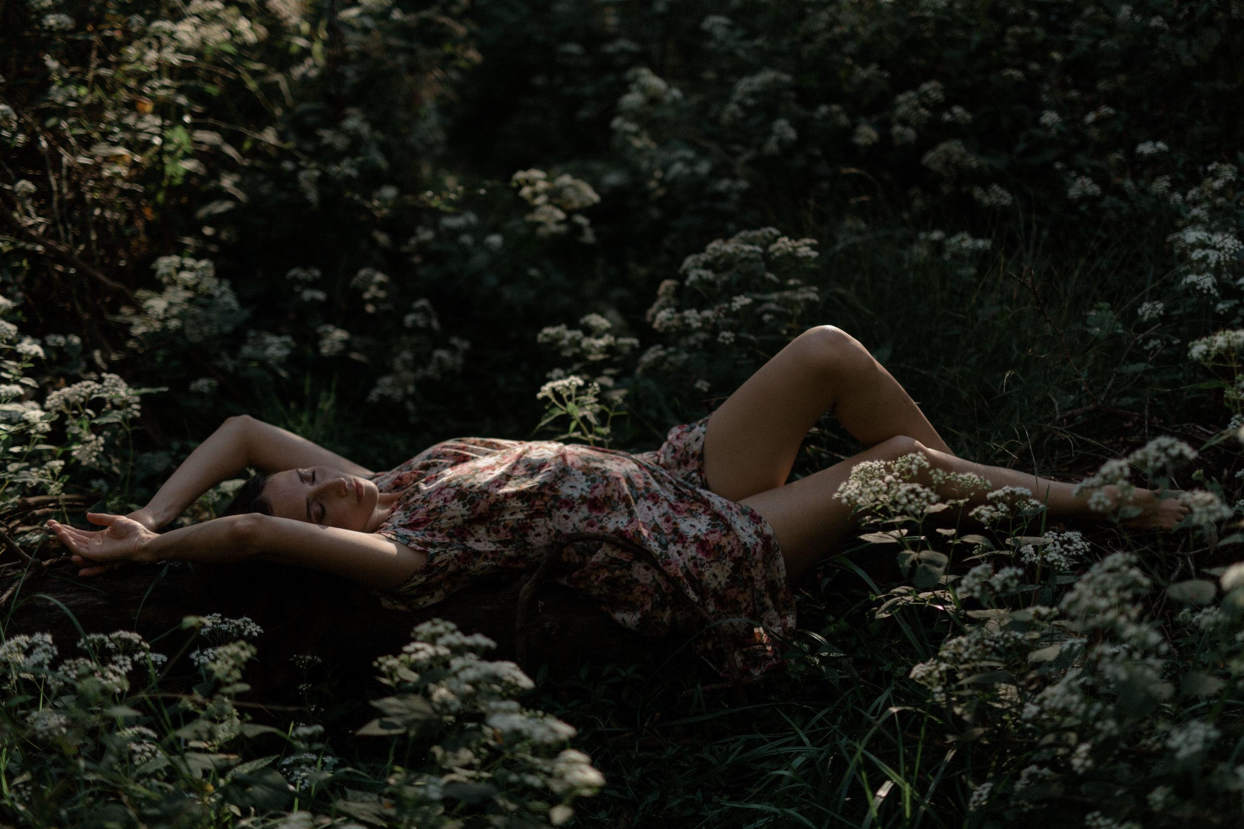 bohemian portrait session. floral dress. ohio art model. anoushanou. ohio portrait photographer. sarah rose photography. boho style. i am sarah rose.