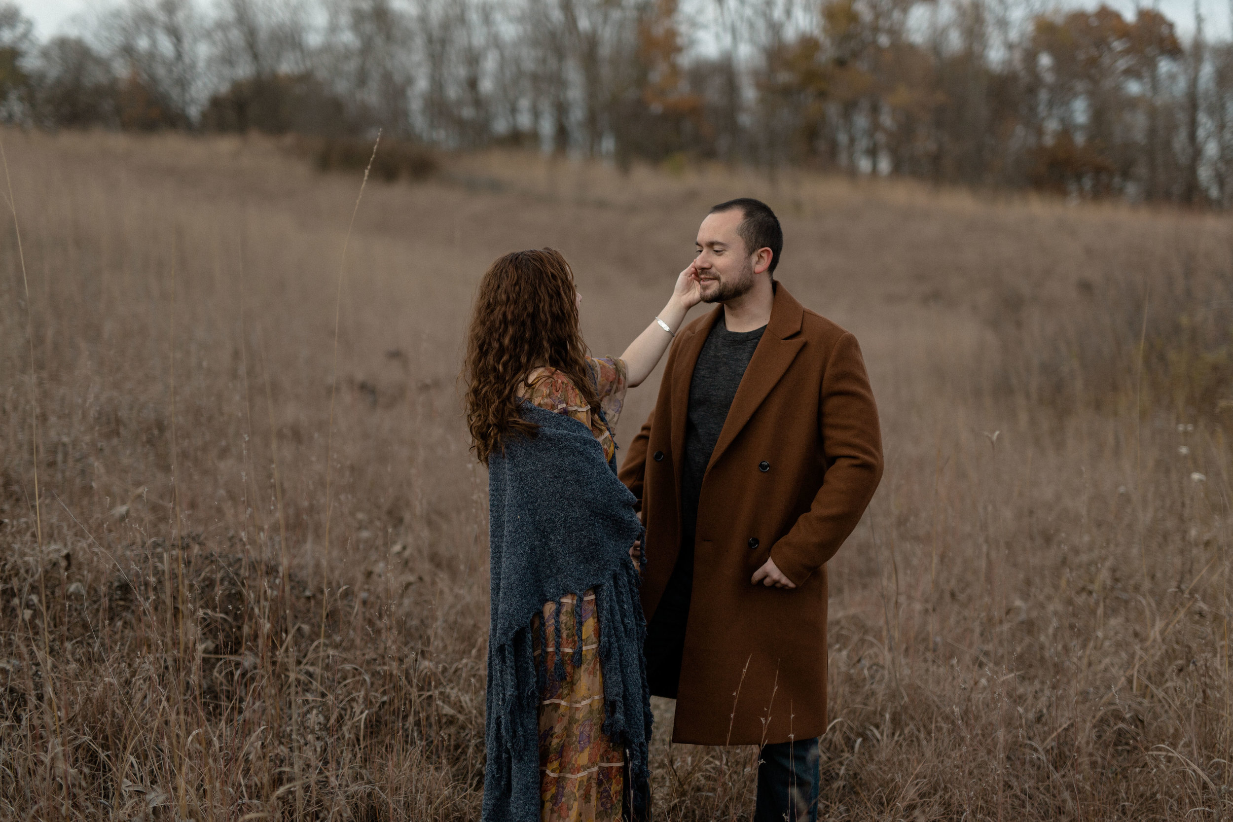 autumn engagement session inspiration. fall engagement session colors. ohio engagement photographer. bohemian floral style. moody engagement photography. sarah rose photography. i am sarah rose.