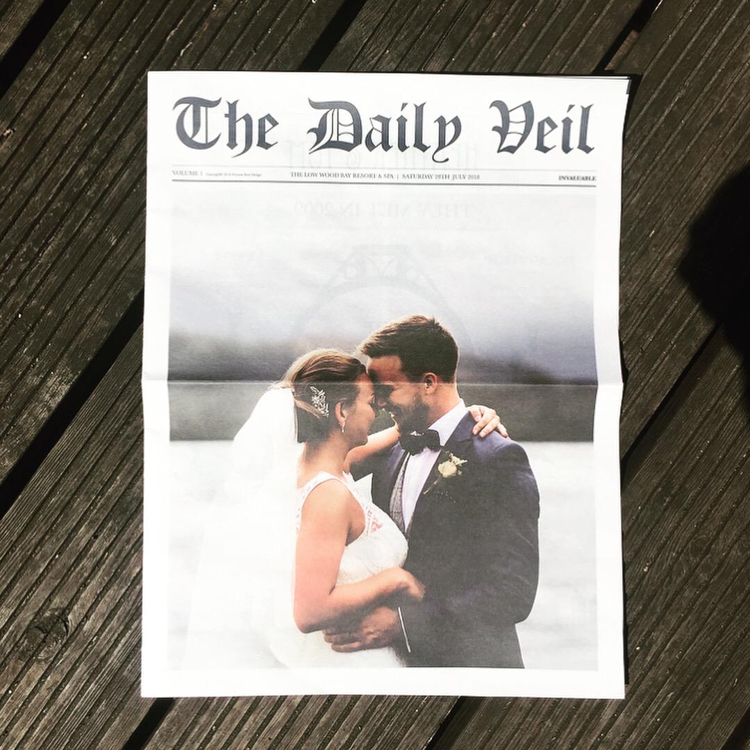 Mr & Mrs Hudson - Front Page Photograph:  Lisa Aldersley  Venue:  Low Wood Bay Resort & Spa