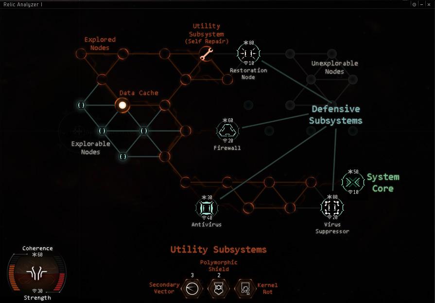 The hacking mini-game