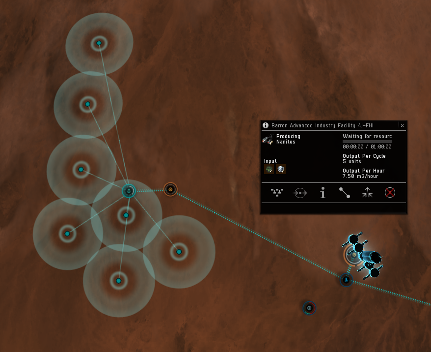 I'm not very disciplined about where I put my structures in my PI colonies, I must admit. I set up links and routes to move everything through a central spaceport on each planet.