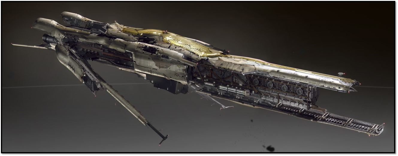 The Amarr Confessor is the first Tech III destroyer, to be released in the Rhea update. It will feature three modes: speed, sniper and tank, with animated hull changes for each.