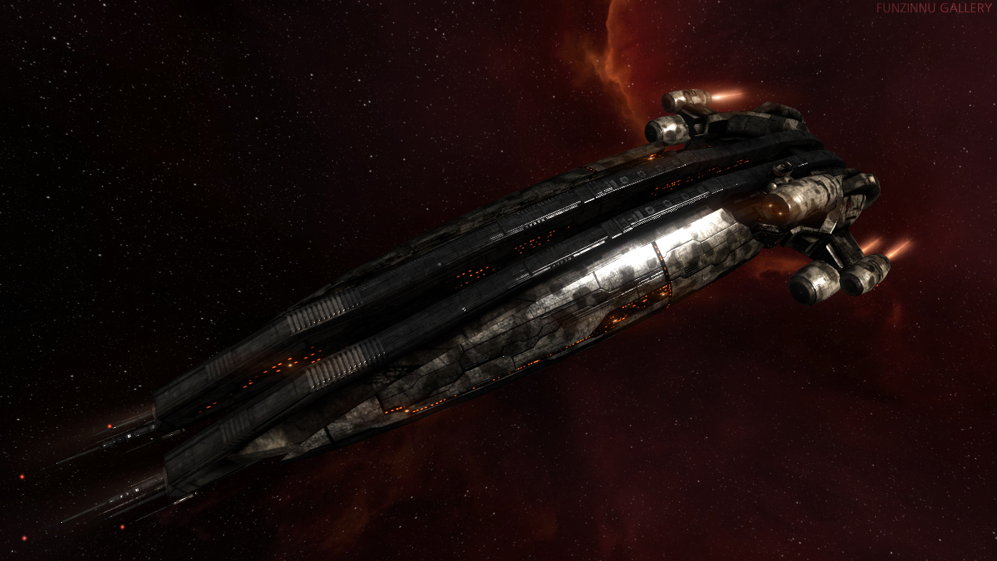 The amazingly speedy Machariel, battleship of the Angel Cartel pirate faction