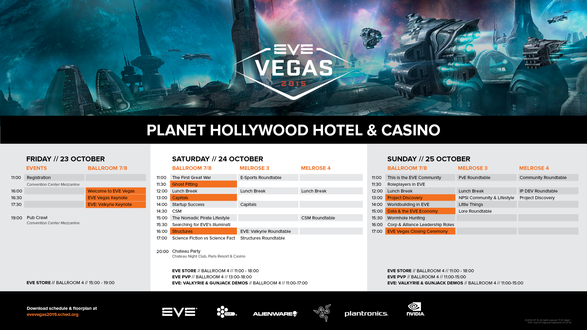 Lots of interesting panels, presentations and fun things to do happened at EVE Vegas 2015 - perhaps I should plan to go next year.
