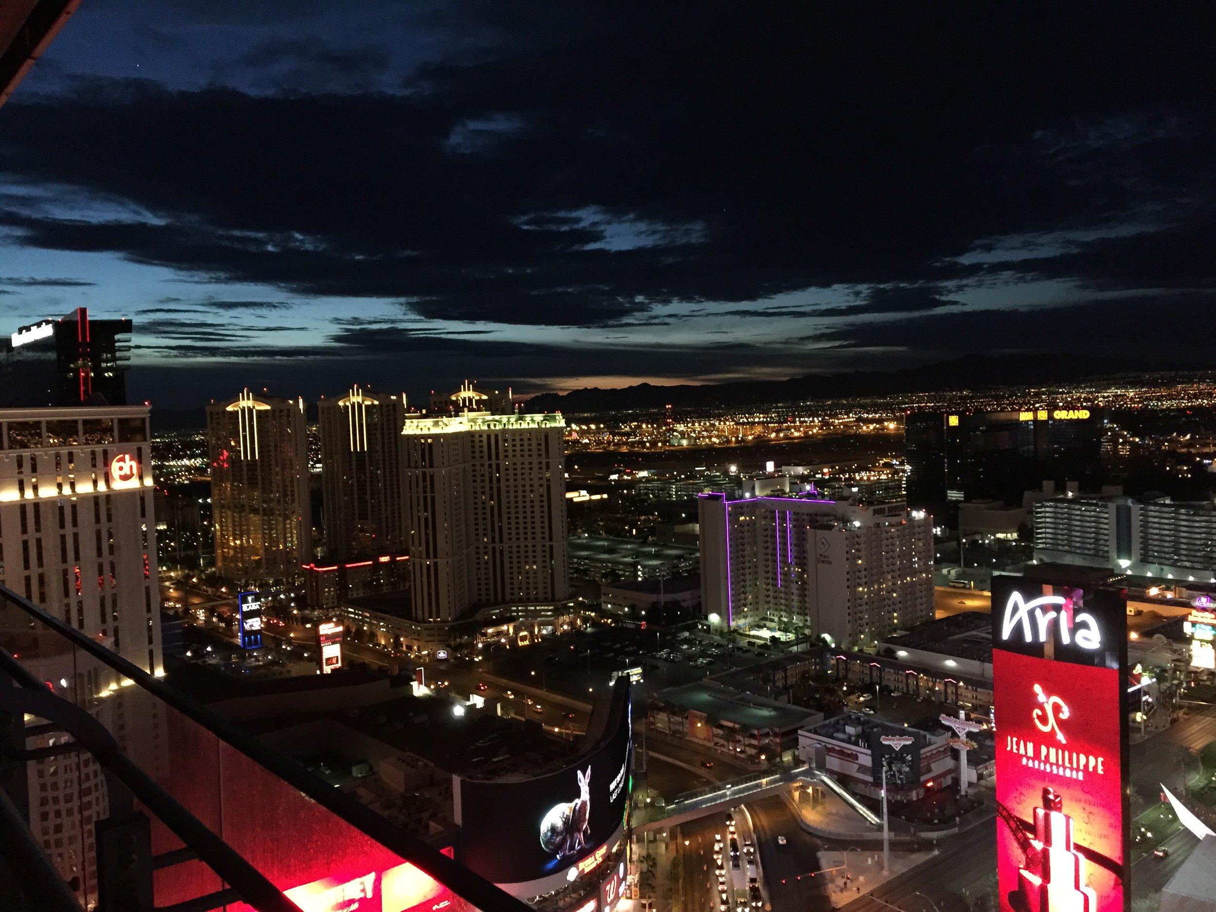 Sunrises in Vegas are pretty impressive, I must admit.