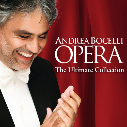Andrea Bocelli CD with performance of Donna E Mobile