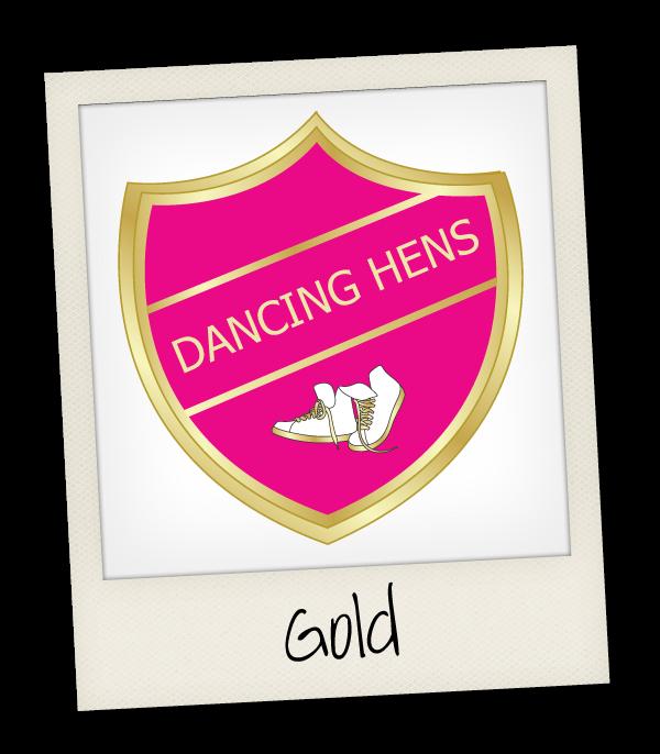 Gold Dancing Hen Party
