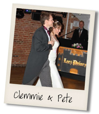 Clemmie and Pete dance the waltz