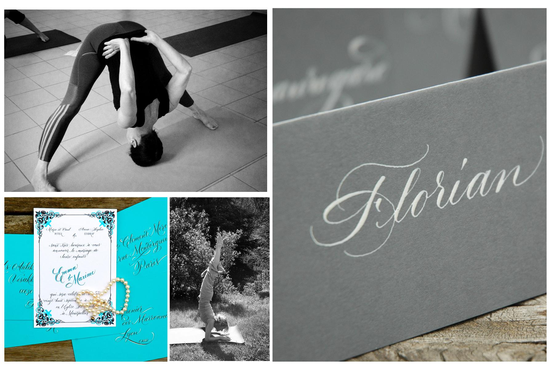 calligraphy and yoga