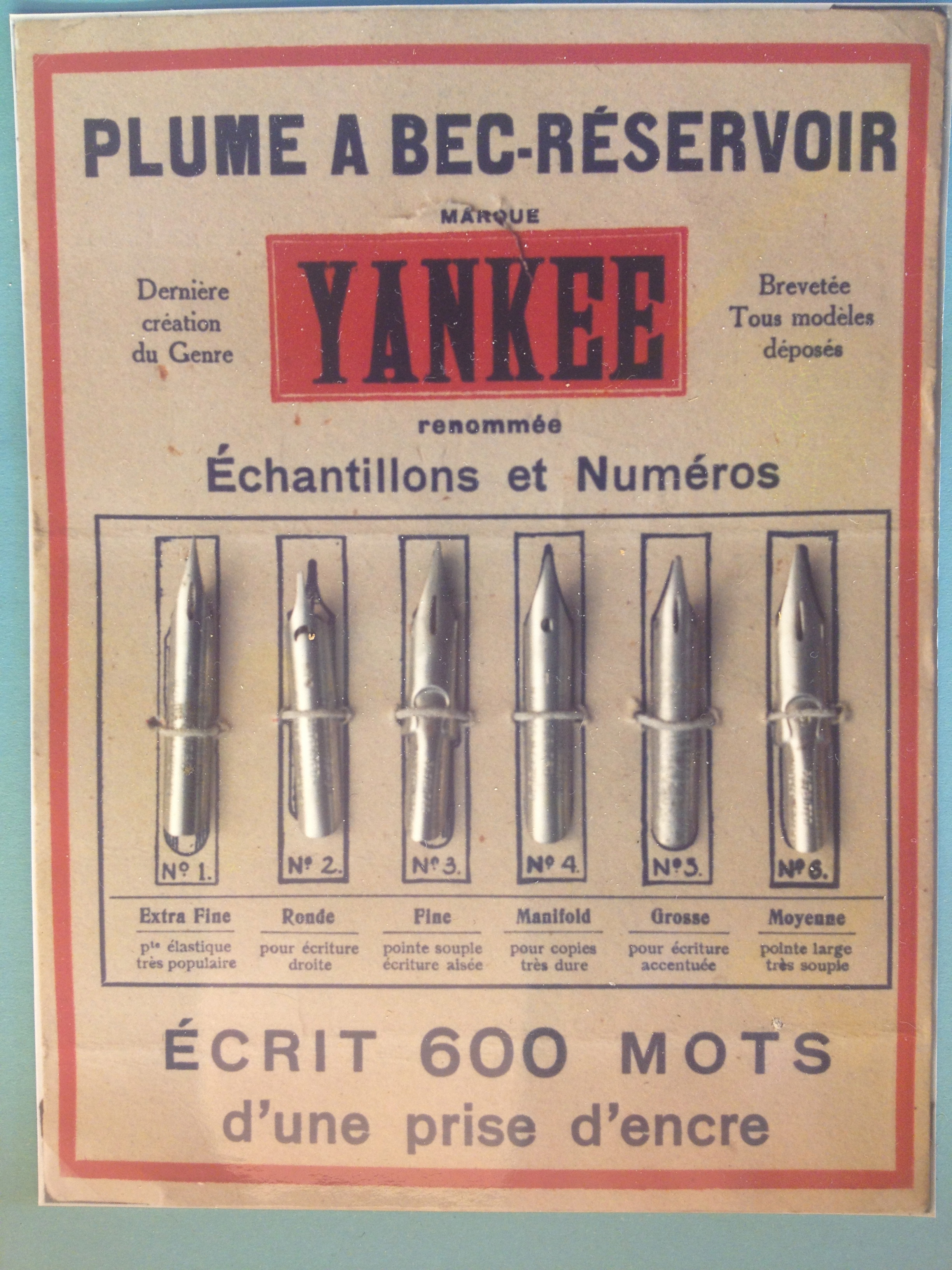 or get yourself one of those new-fangled Yankee steel nibs.
