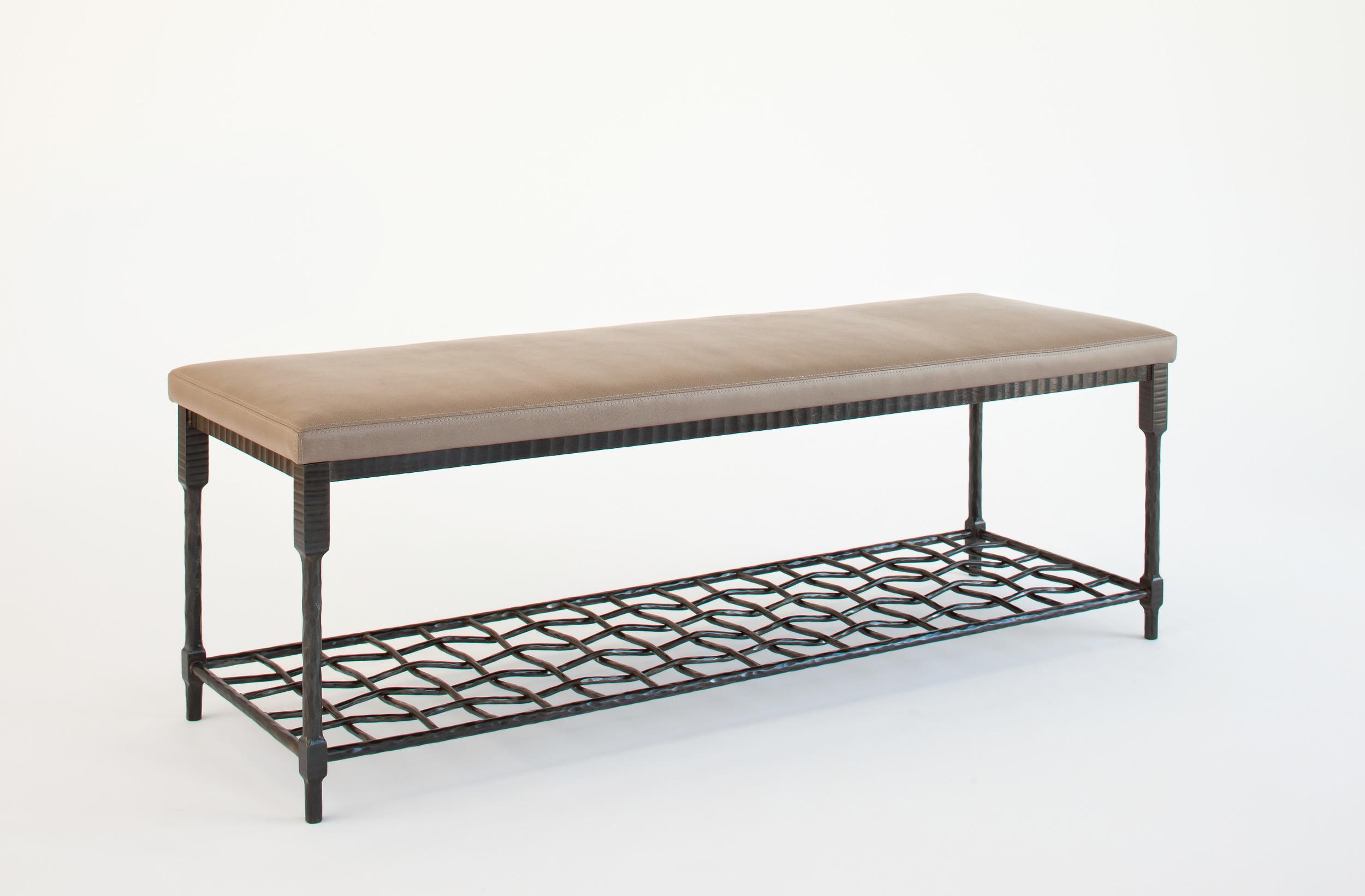 Custom Forged Leg Bench
