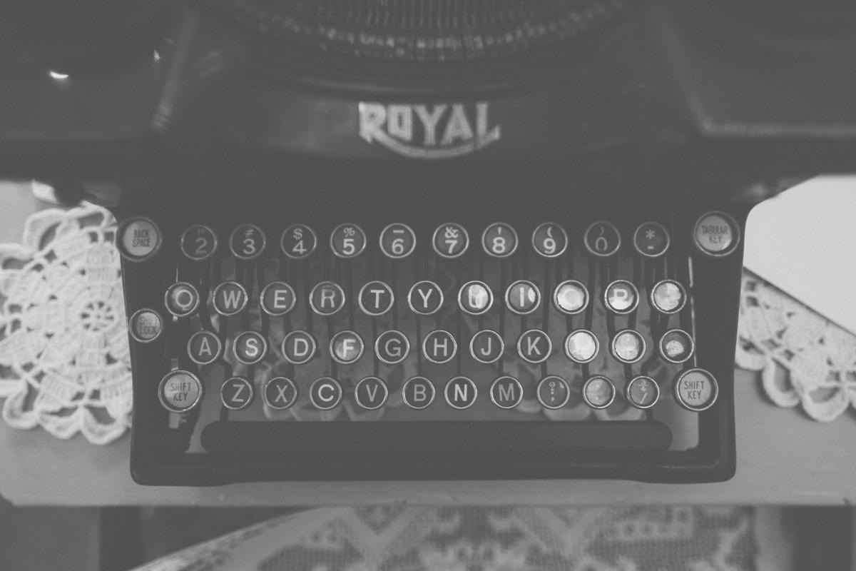Typewriter Wedding Guest book