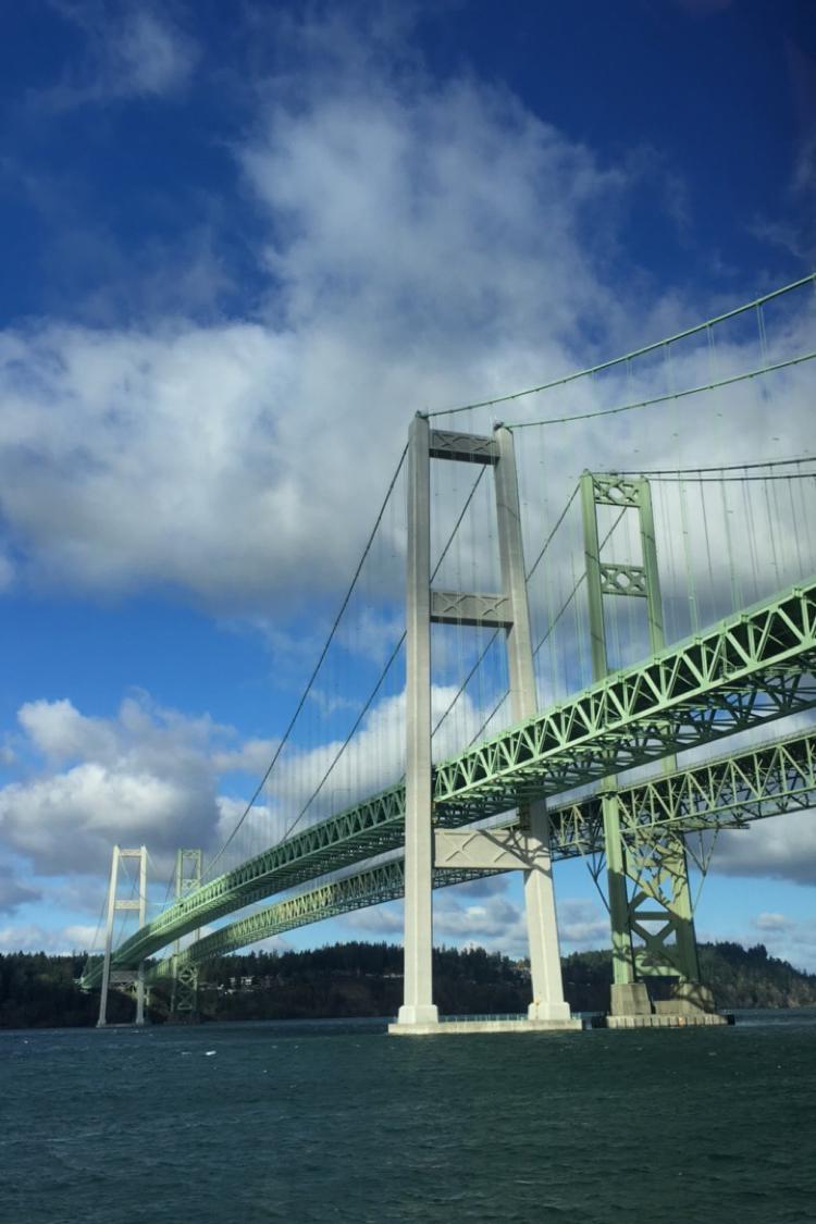 iPhone Pic of the  Tacoma Narrows Bridge