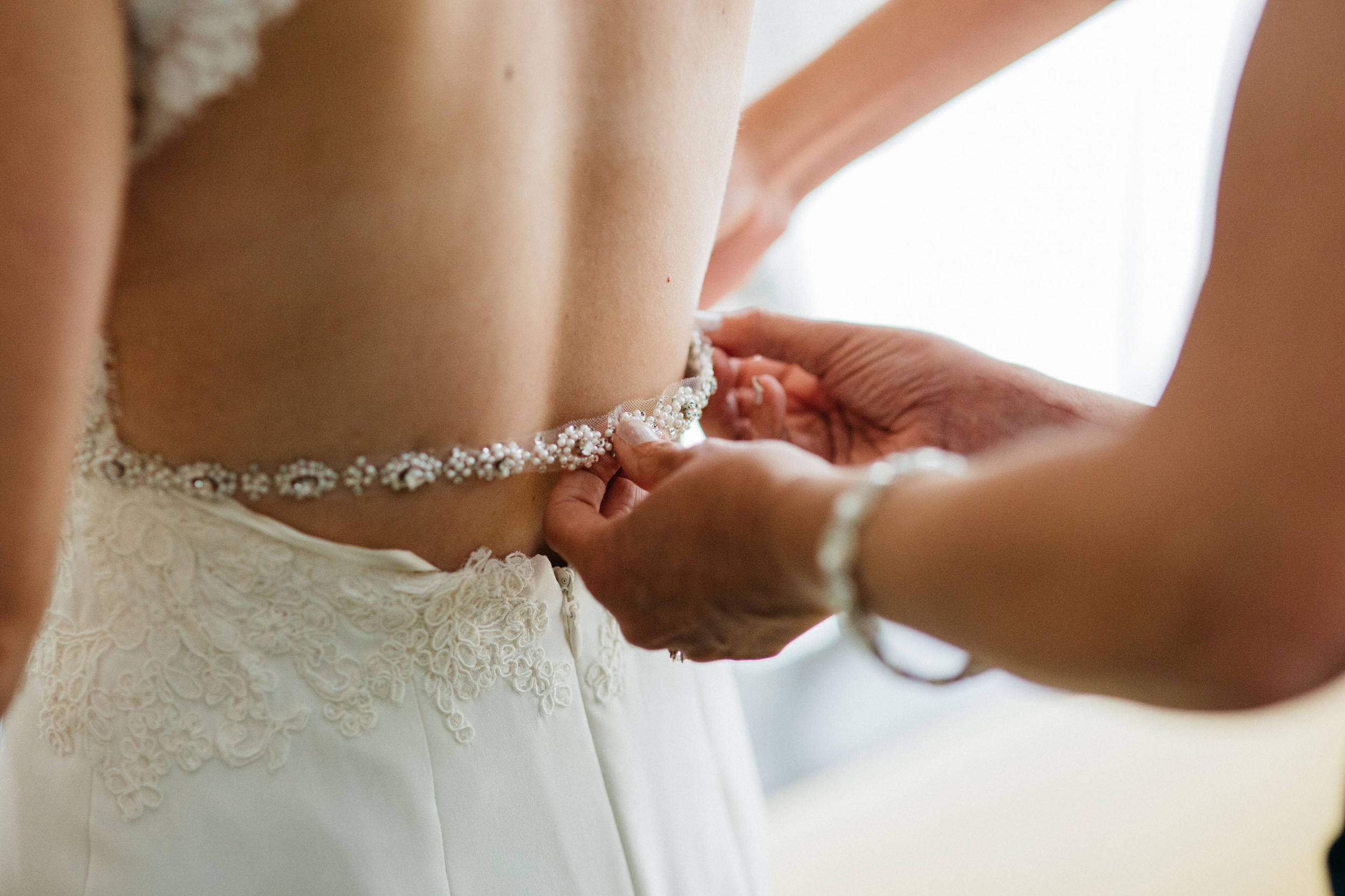 Beaded Wedding Dress Details