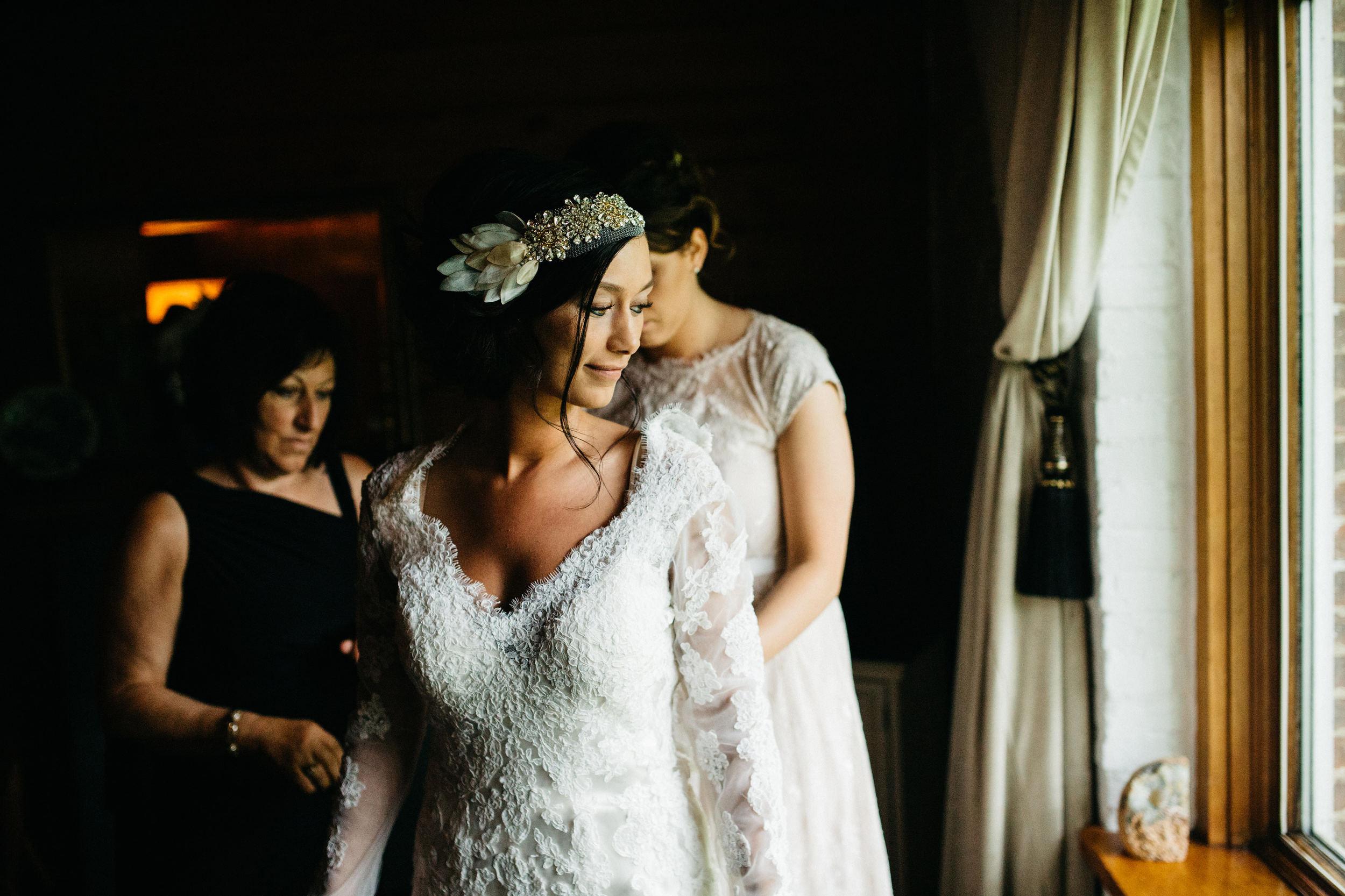 Lace Wedding Dress in Ohio Wedding