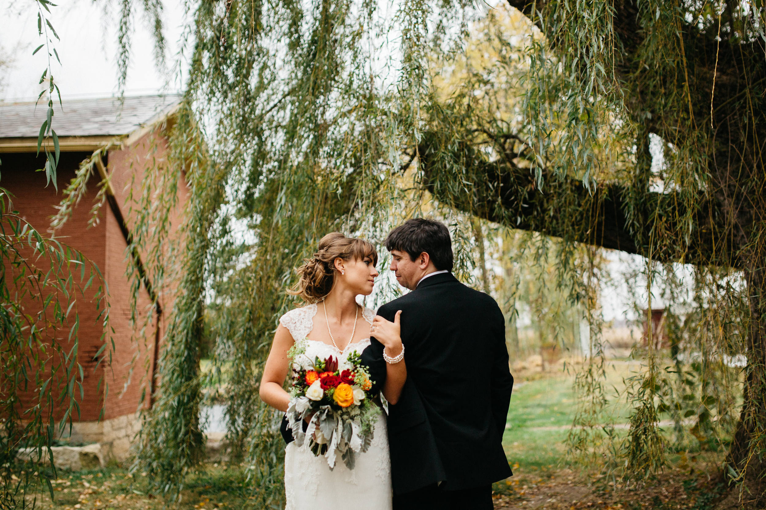 Wedding Portraits at The Willow Tree in Dayton, Ohio.