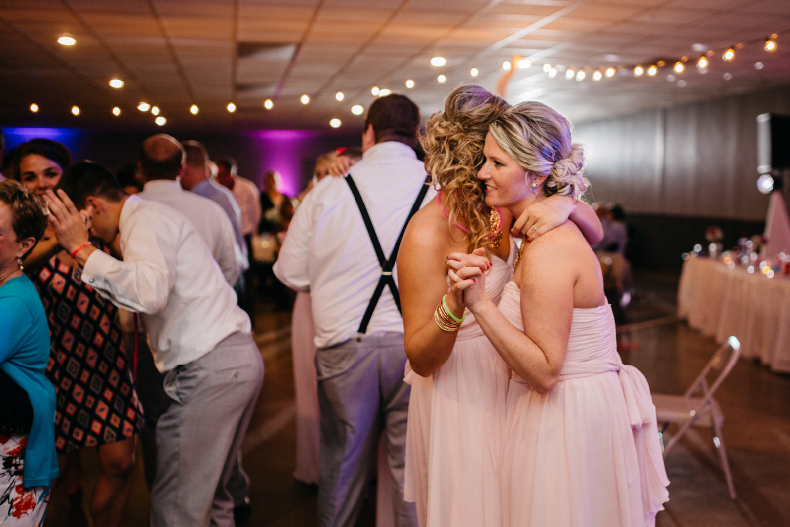 Couples dance at wedding reception at Fulton County Fairgrounds