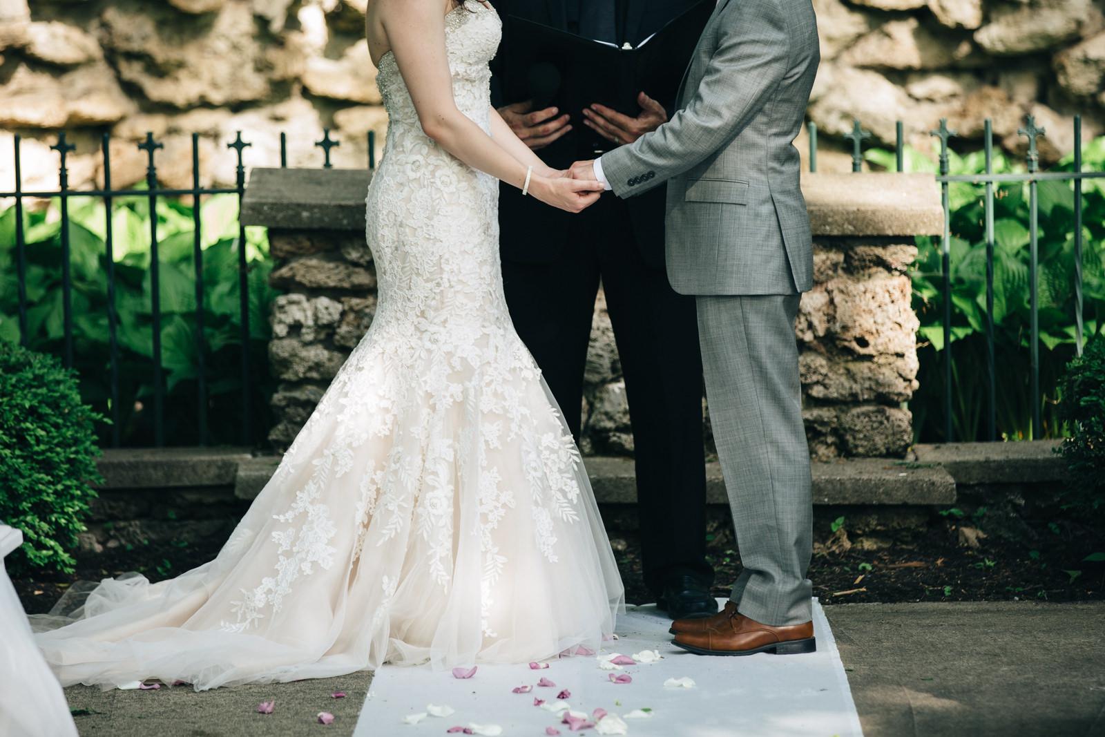 Summer wedding ceremony at Nazareth Hall
