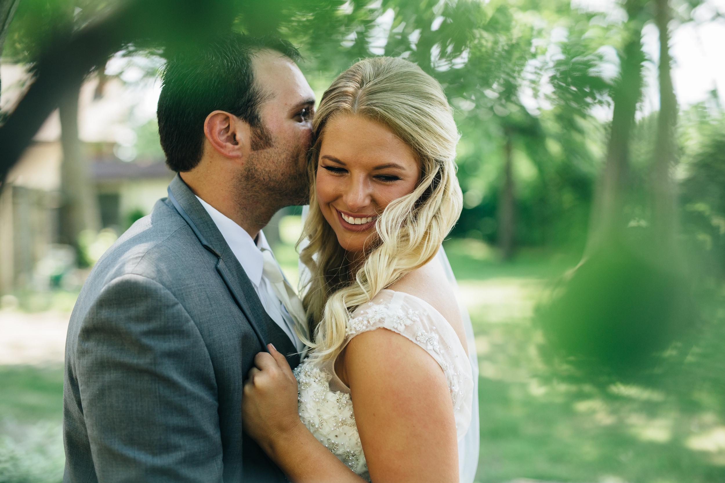 Summer wedding in Oregon, Ohio at Oak Shade Grove.