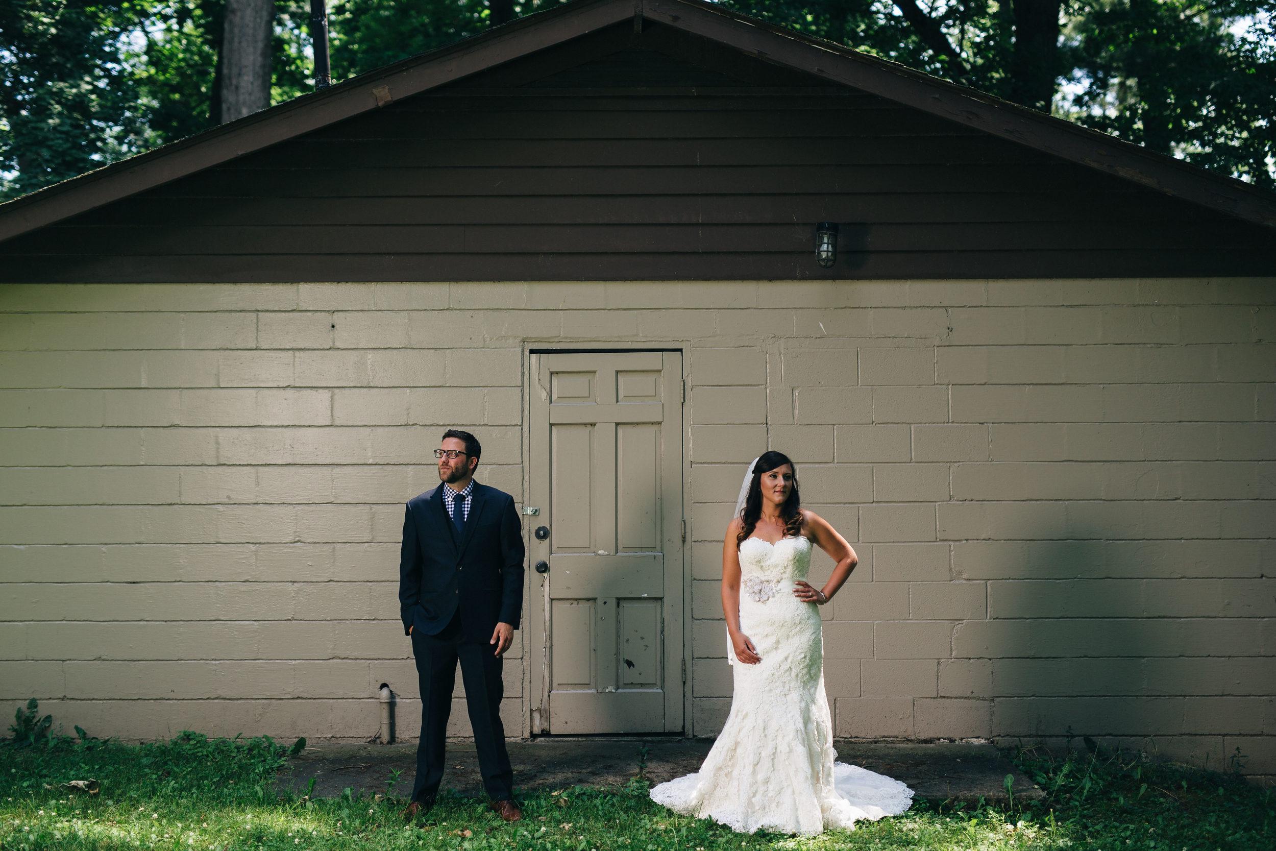Wedding photography at Hoover park at Walsh University.