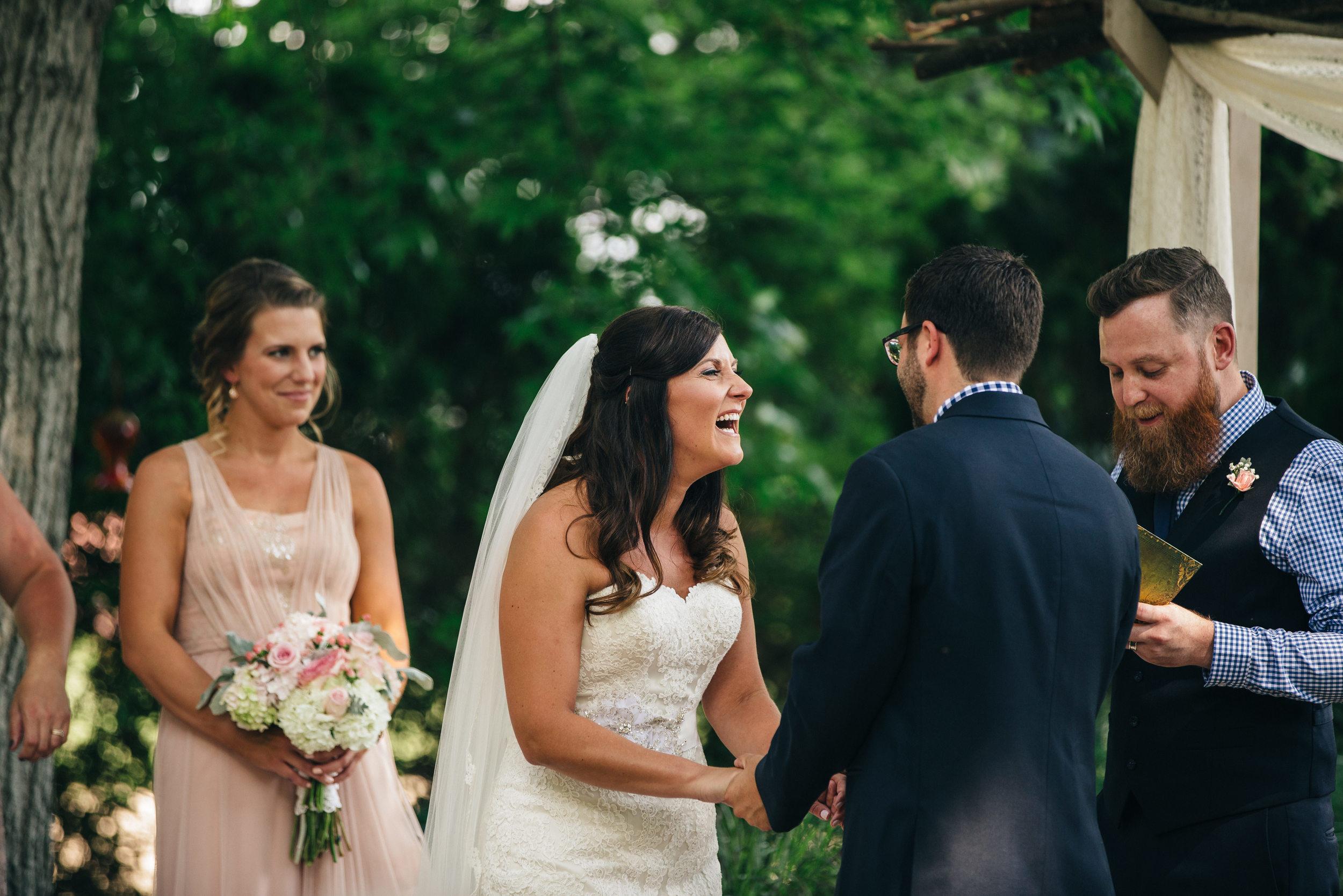 Wedding Ceremony Photography in Canton, Ohio