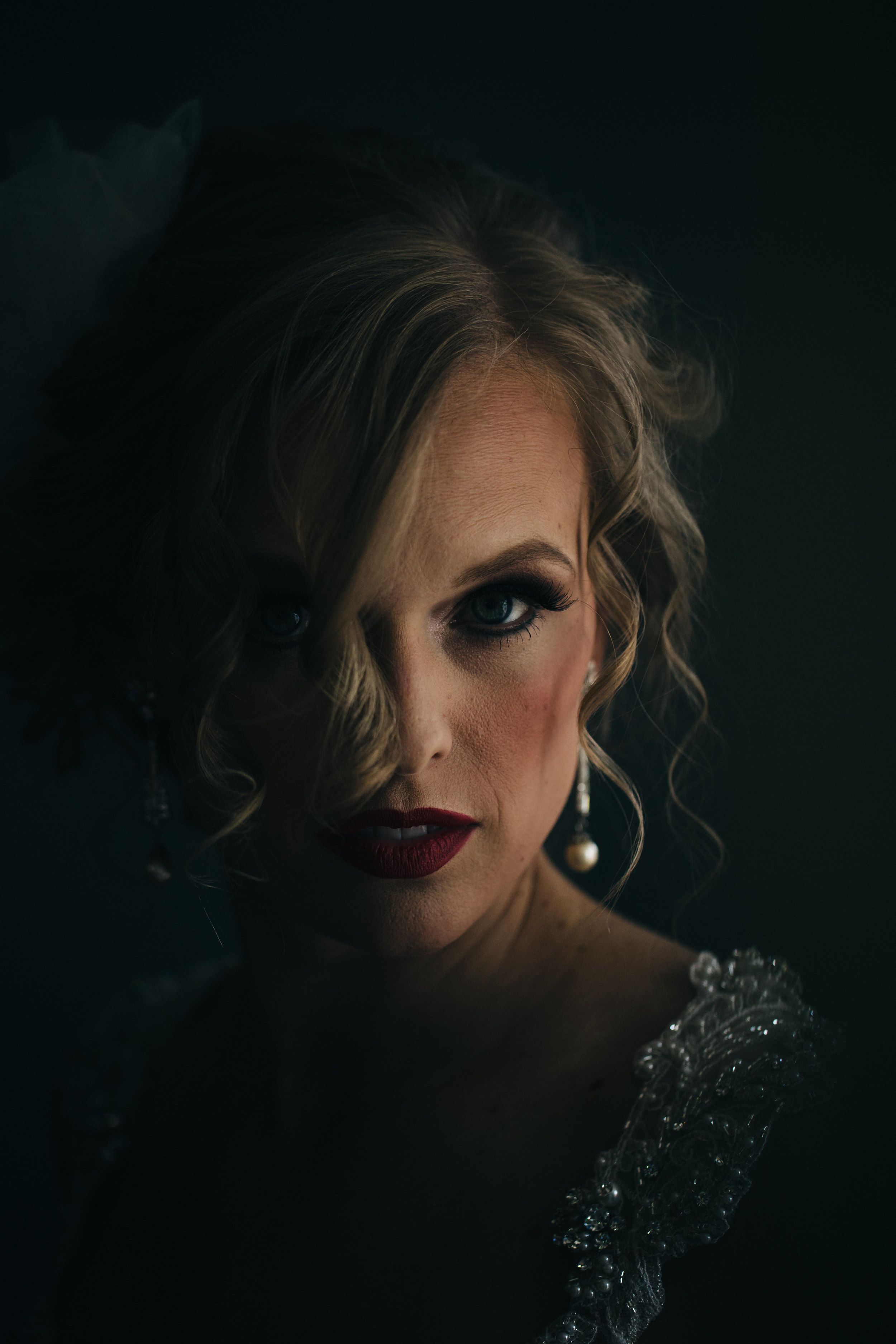 Stunning wedding makeup by Ashley Rockwell Makeup.